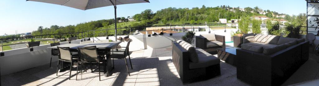 Aménagement d'un appartement avec terrasse à Toulouse l'Hers :: design d'espace