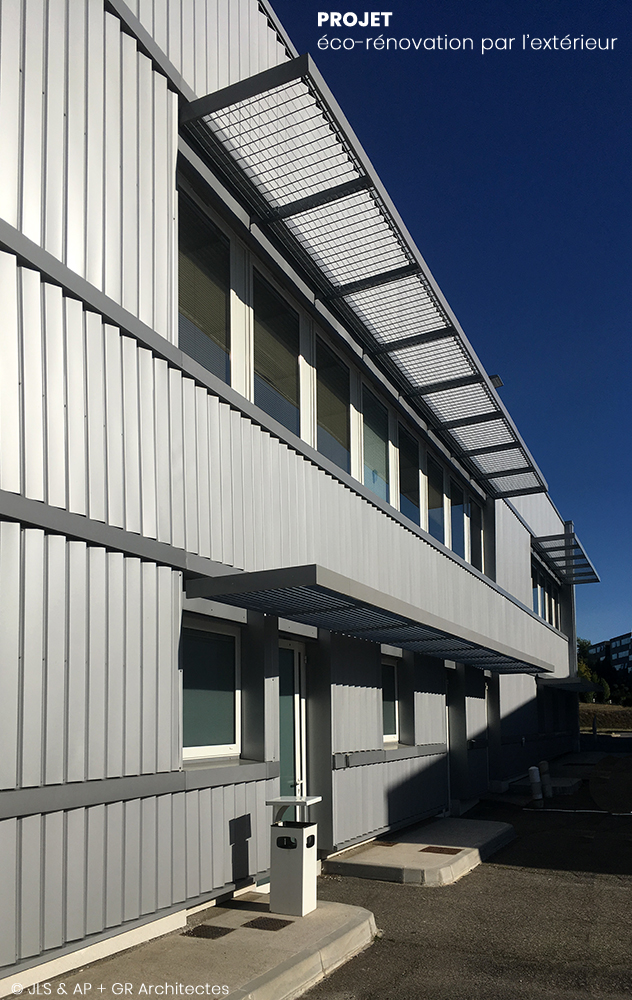 Rénovation énergétique de bureaux à Balma :: projet architectural co-conception