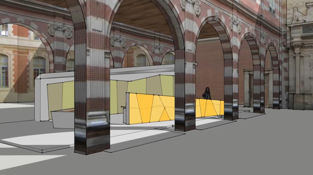 Exposition à la cour du Capitole :: co-design d'espace